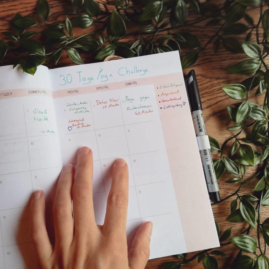 Erfolge Tracken mit der 30 Tage Yoga Challenge von Mady Morisson