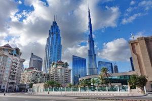 Burj Khalifa und Skyline von Dubai
