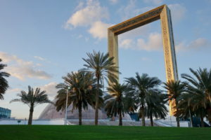 Dubai Frame als Alternative zur Burj Khalifa.