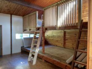 Betten in den Hütten