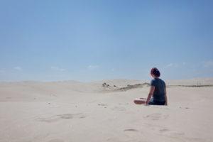 Anna Bay Sanddünen. Heiß wie in der Wüste selbst.