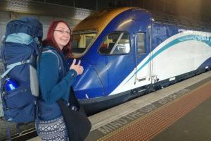 Fortbewegung mit dem Zug in Australien.