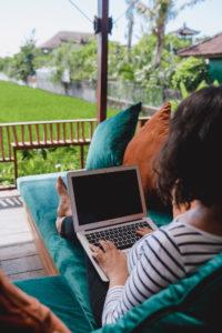 Arbeitsplatz eines digitalen Nomadens