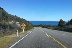Höchstgeschwindigkeit in der Kurve in Neuseeland