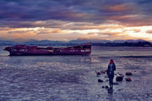Schiffswrack in Marahau