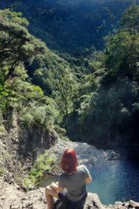 Ausblick von den Kitekite Falls in Piha