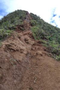 Steile Kletterpassage