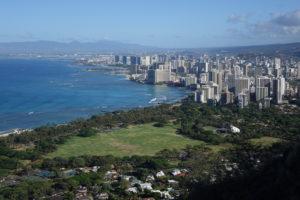 Ausblick vom Diamond Head auf Waikiki
