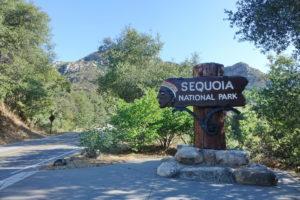 Eingang Sequoia Nationalpark
