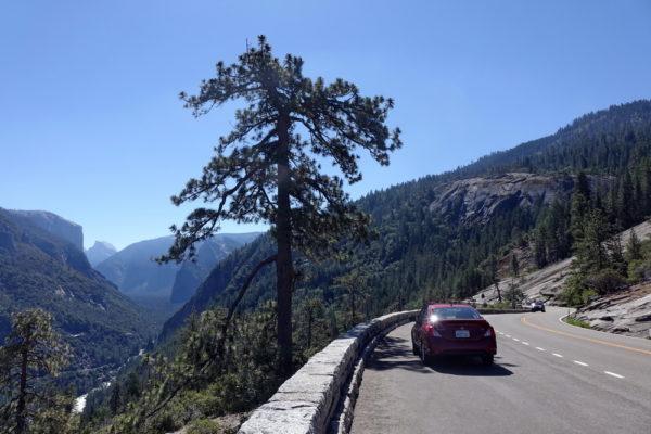 Anfahrt mit dem Auto über den Highway 41 von Fresno zum Yosemite Nationalpark